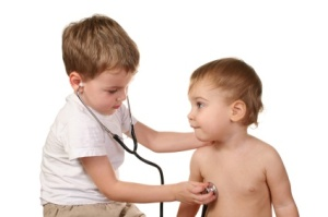 children play doctor